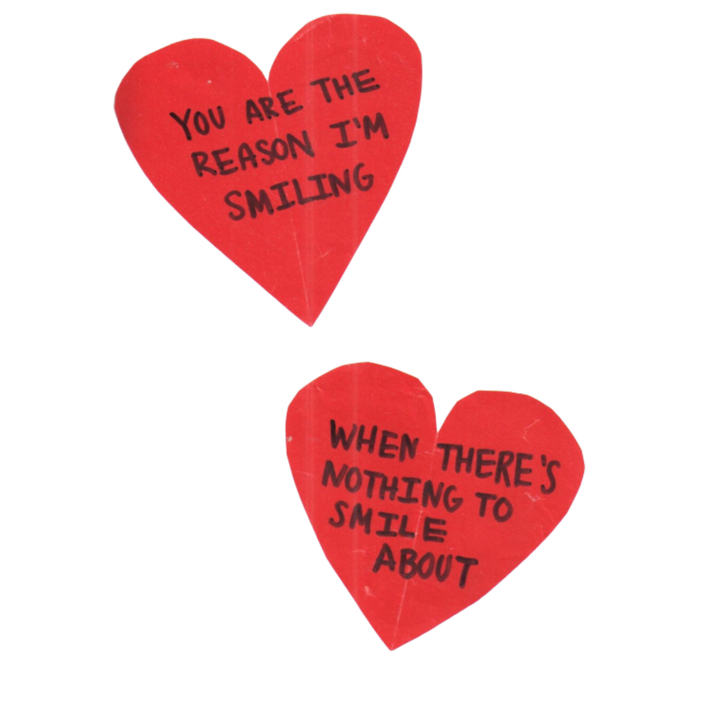 Red aesthetic png. Tumblr hearts words text