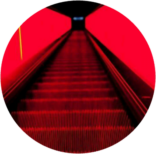 Red aesthetic png. Escalator stairs aestheticcircle circle