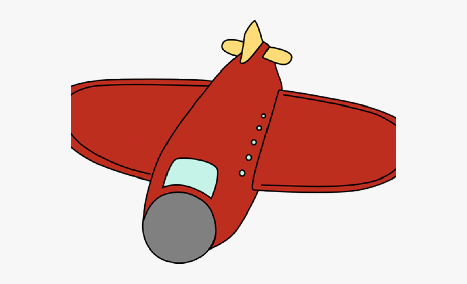 Red airplane. Cartoon png clipart free