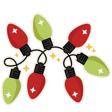 Red and green christmas lights png. Silhouette at getdrawings com