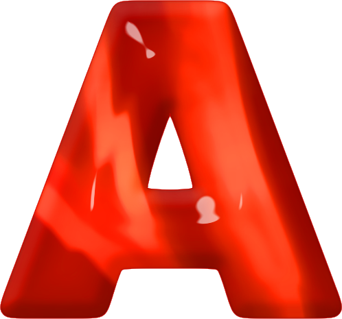 Red and orange alphabet png