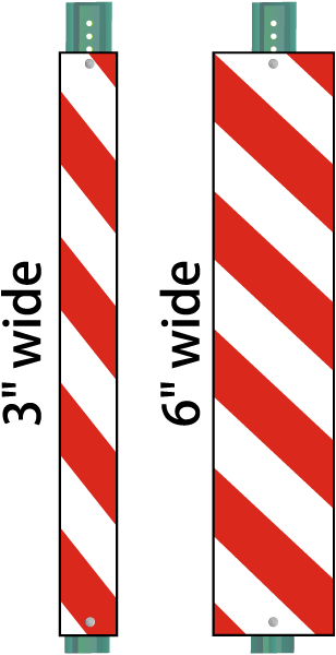 Red and white stripes png. Striped reflective u channel