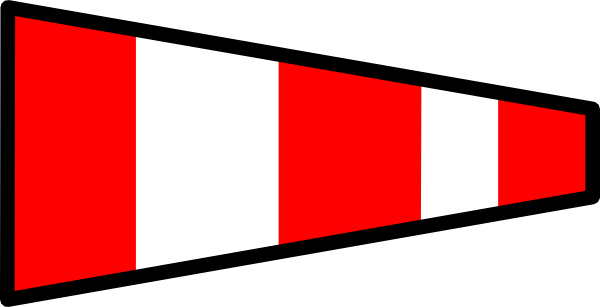 Red and white stripes png. Striped signal flag clip