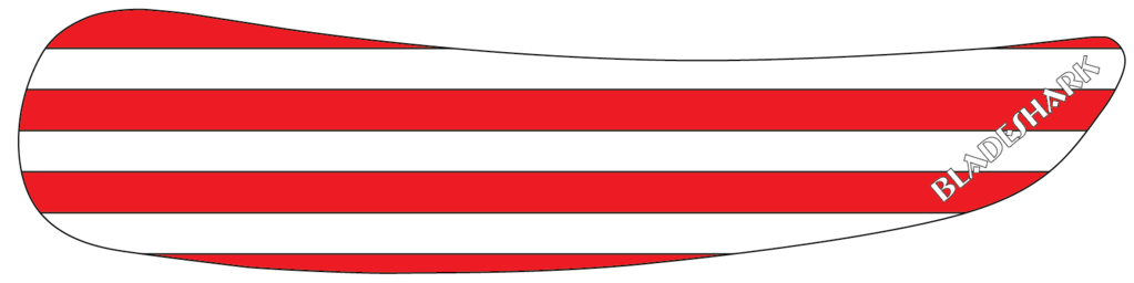 Red and white stripes png. Bladeshark performance hockey tape