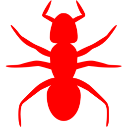 Beetle transparent color changing. Red ant icon free