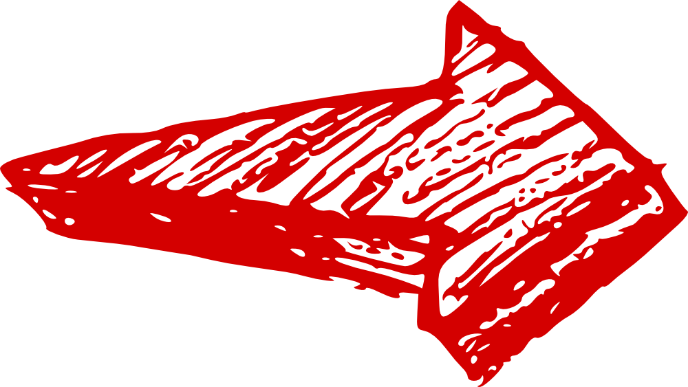 Hand drawn red arrow png. Heavy right transparent stickpng