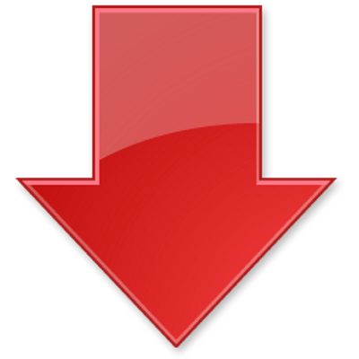 Red arrow transparent png. Down stickpng