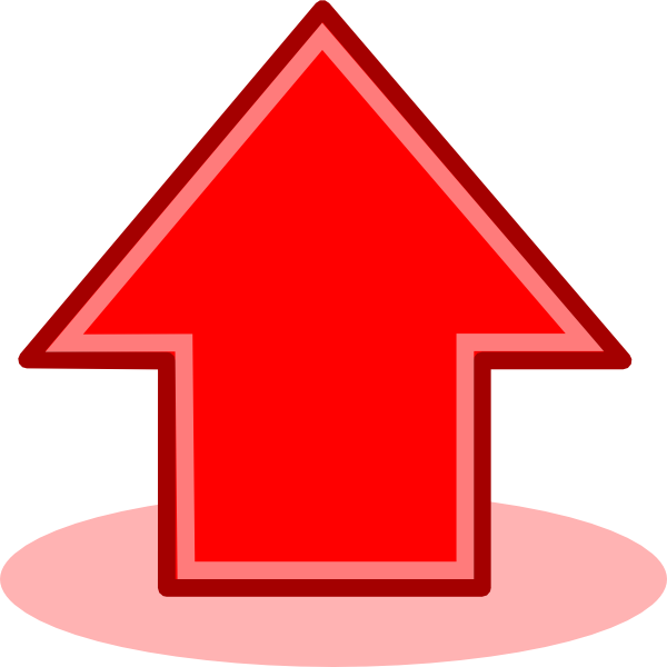Red arrow up png. Clip art at clker