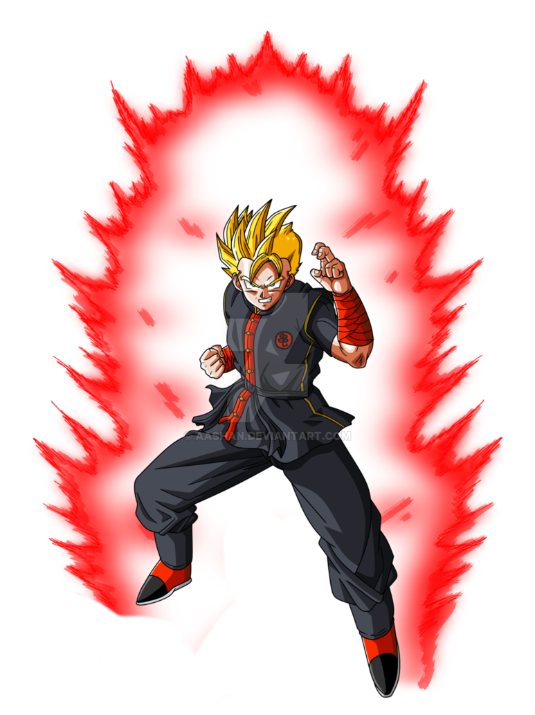 Red aura png. Dbz oc super saiyan