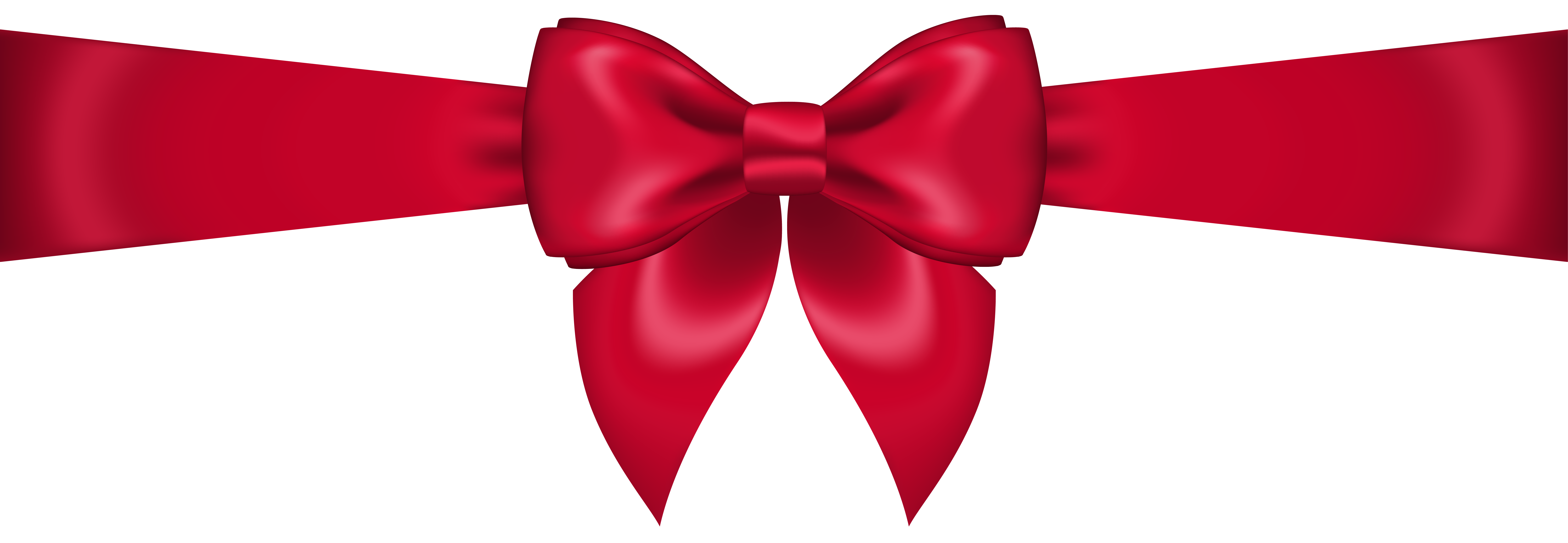 Red hair bow png. Transparent clip art image