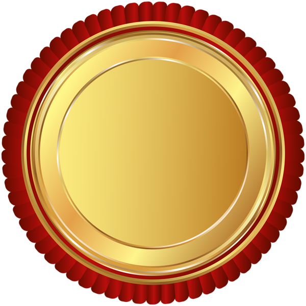 Red badge png. Gold seal clip art
