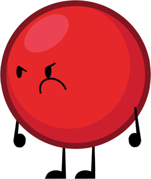 Red ball 4 png. Image pose object shows
