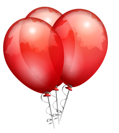 Red balloons png. Download free transparent image
