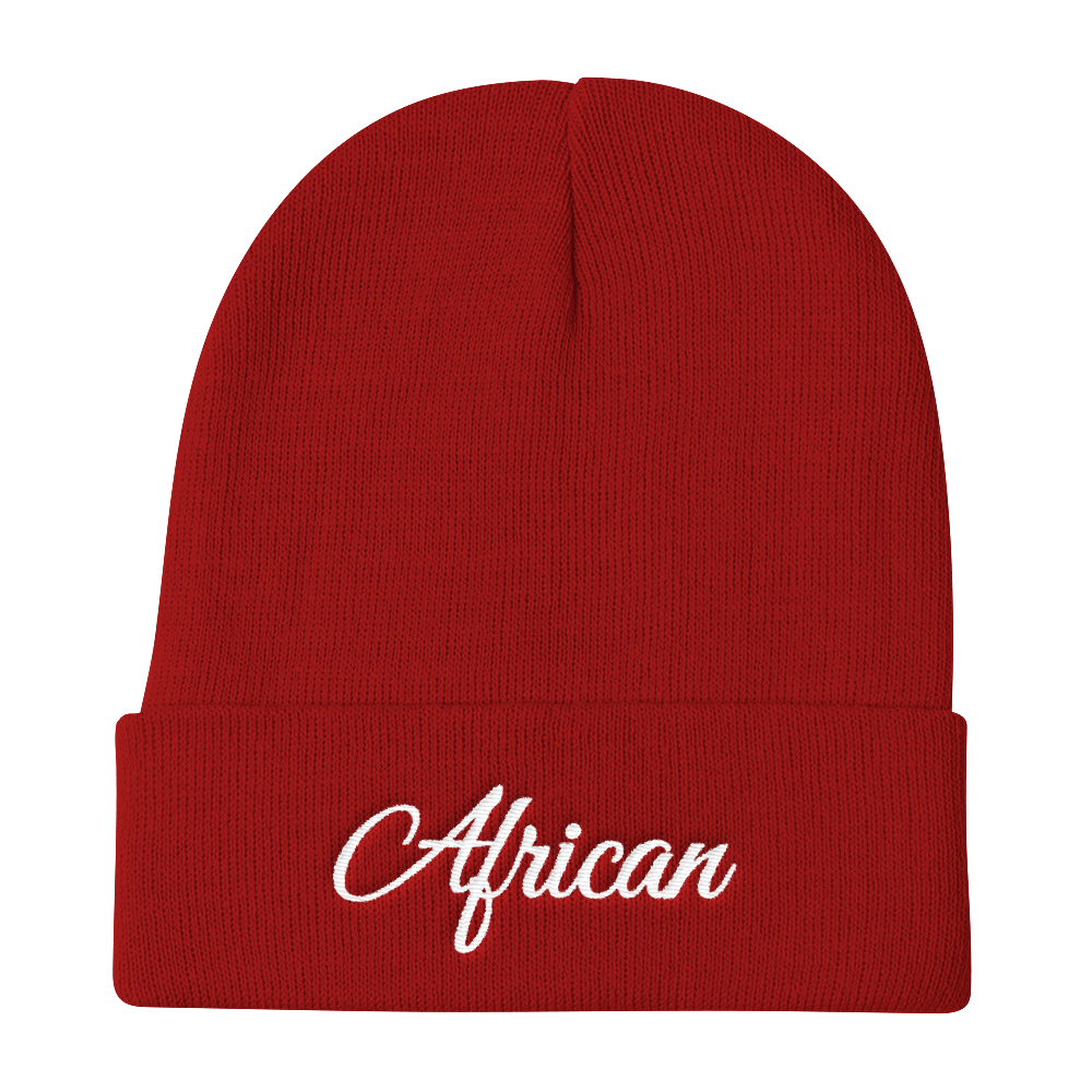 Red beanie hat png. African signature