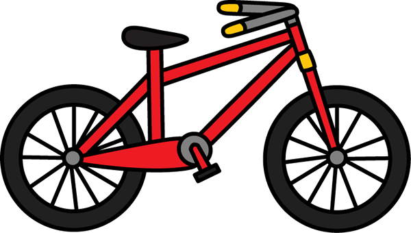 Red bicycle. Big ride clip art