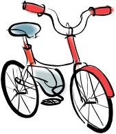 Red bicycle. A drawing of clipart