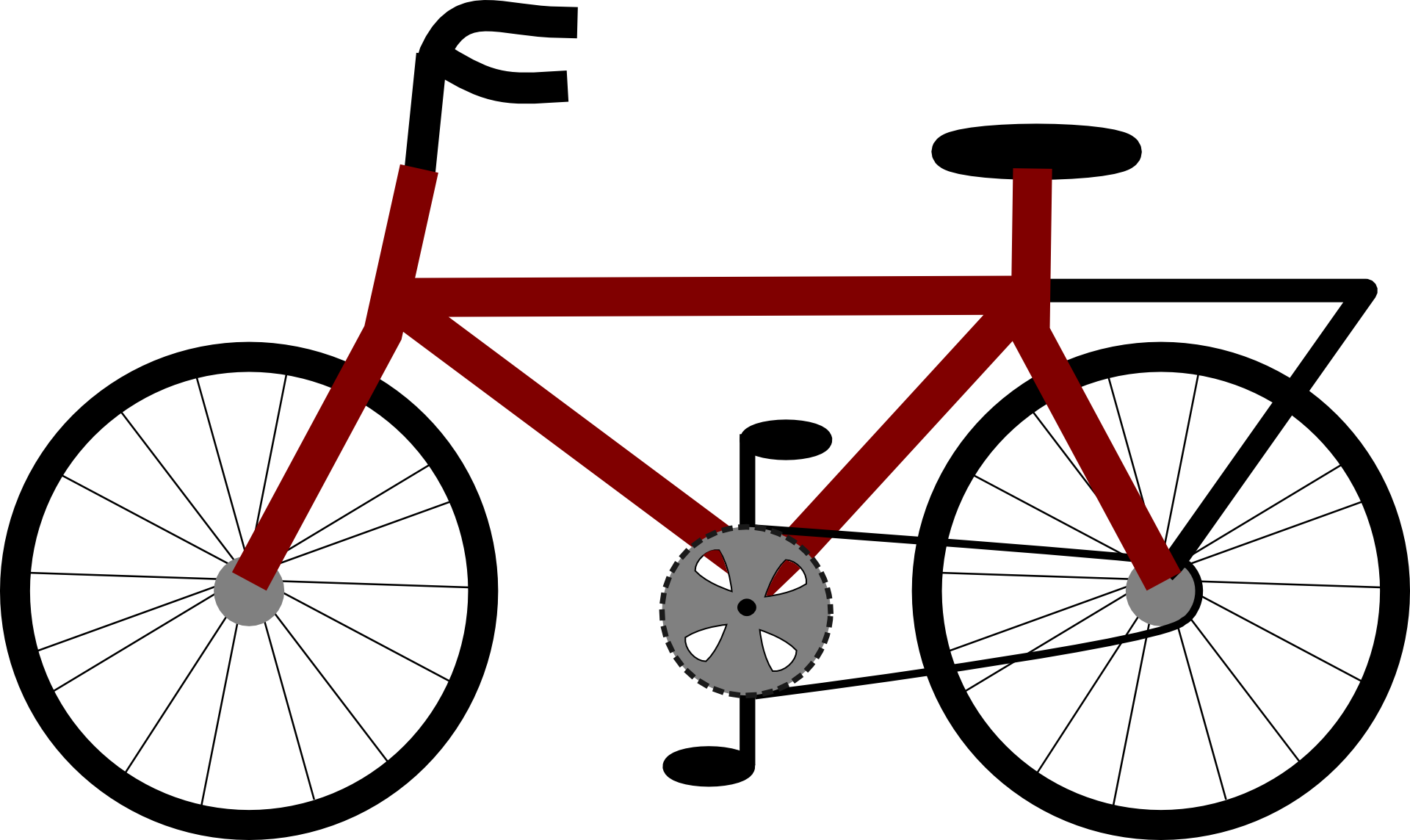 Red bicycle. Clipart free image