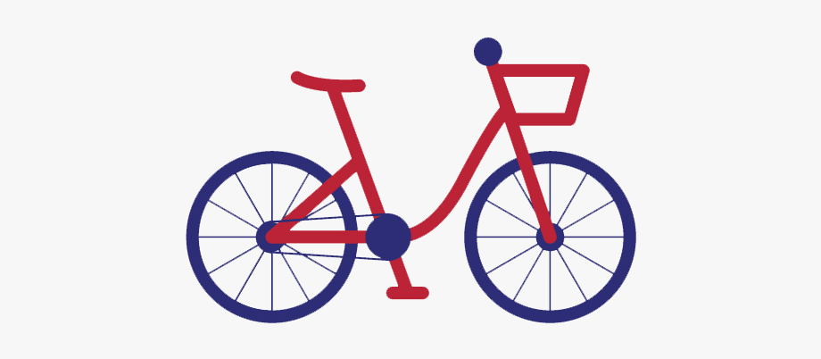Red bicycle. Clipart bike love to