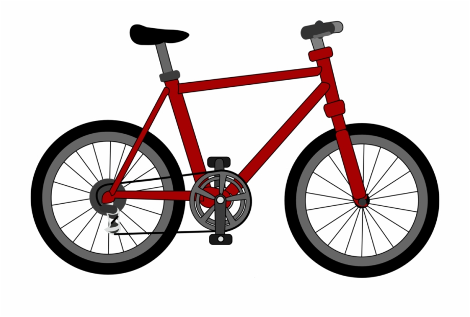 Red bicycle. Image public domain clip