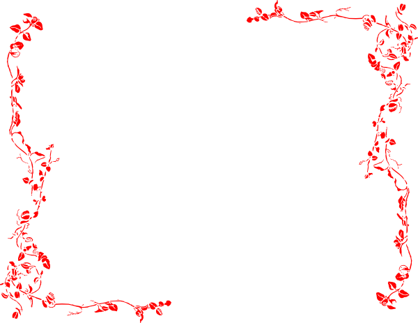 Red borders png. Free border download clip