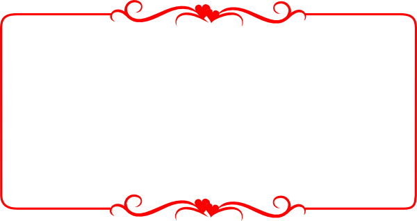 Red border png. Hearts clip art at