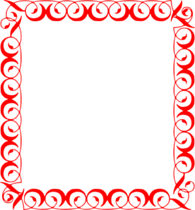 Red borders png. Fancy clipart