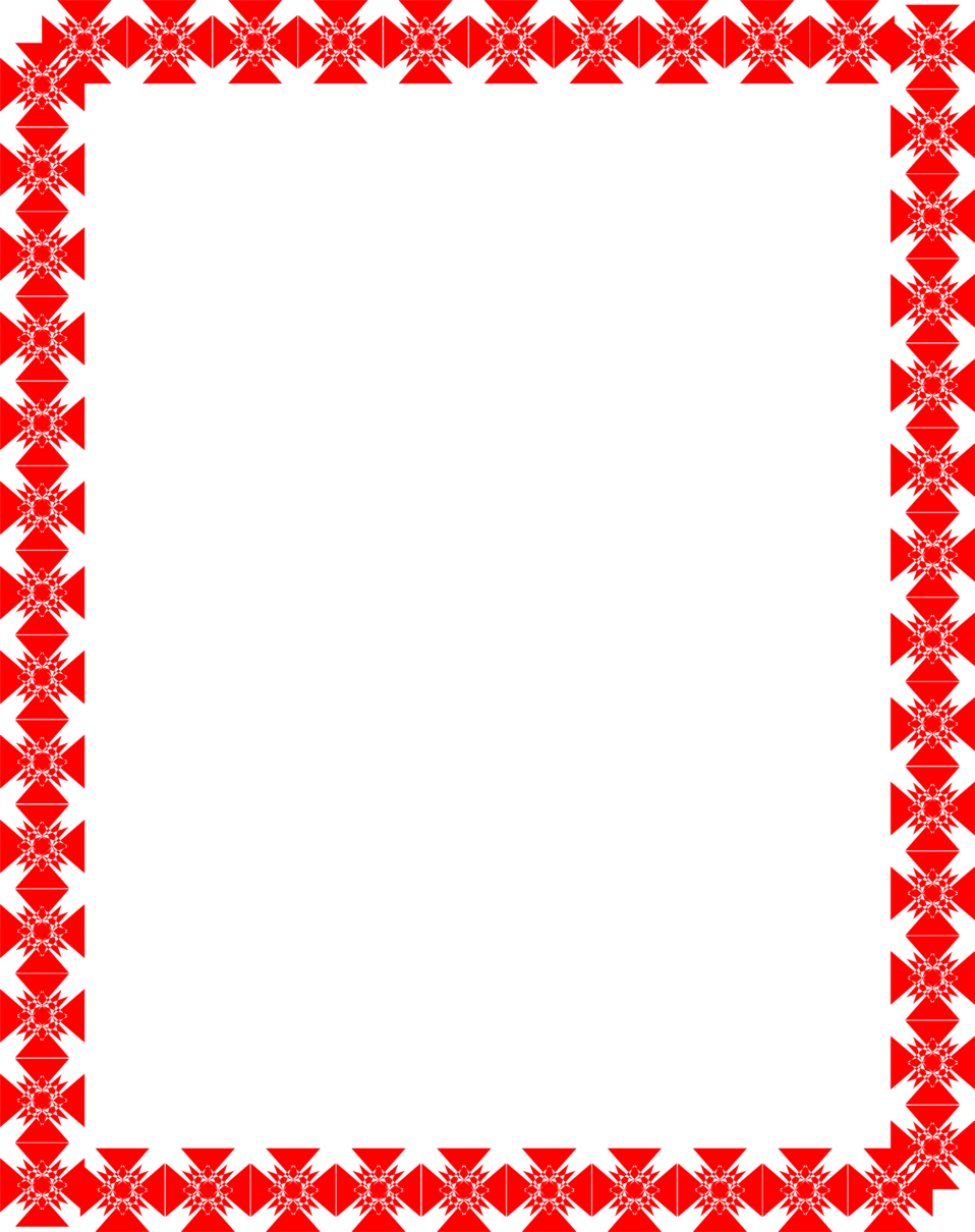 Red borders png. Border free stock photo