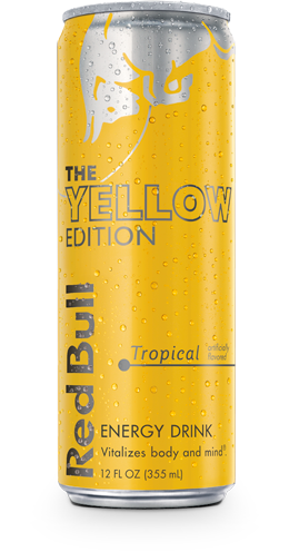 Red bull editions png. Yellow edition tropical energy