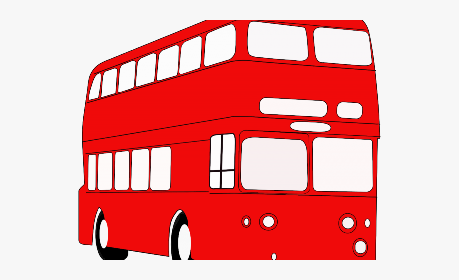 Red bus. Clipart transparent background clip
