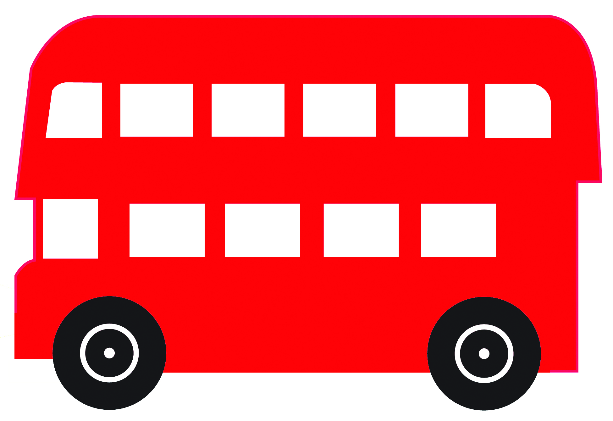Red bus. Clipart station