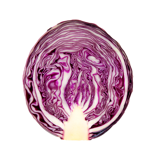 Purple cabbage png. Balsamic steak with red
