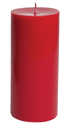 Red candle png. Pillar cm inch