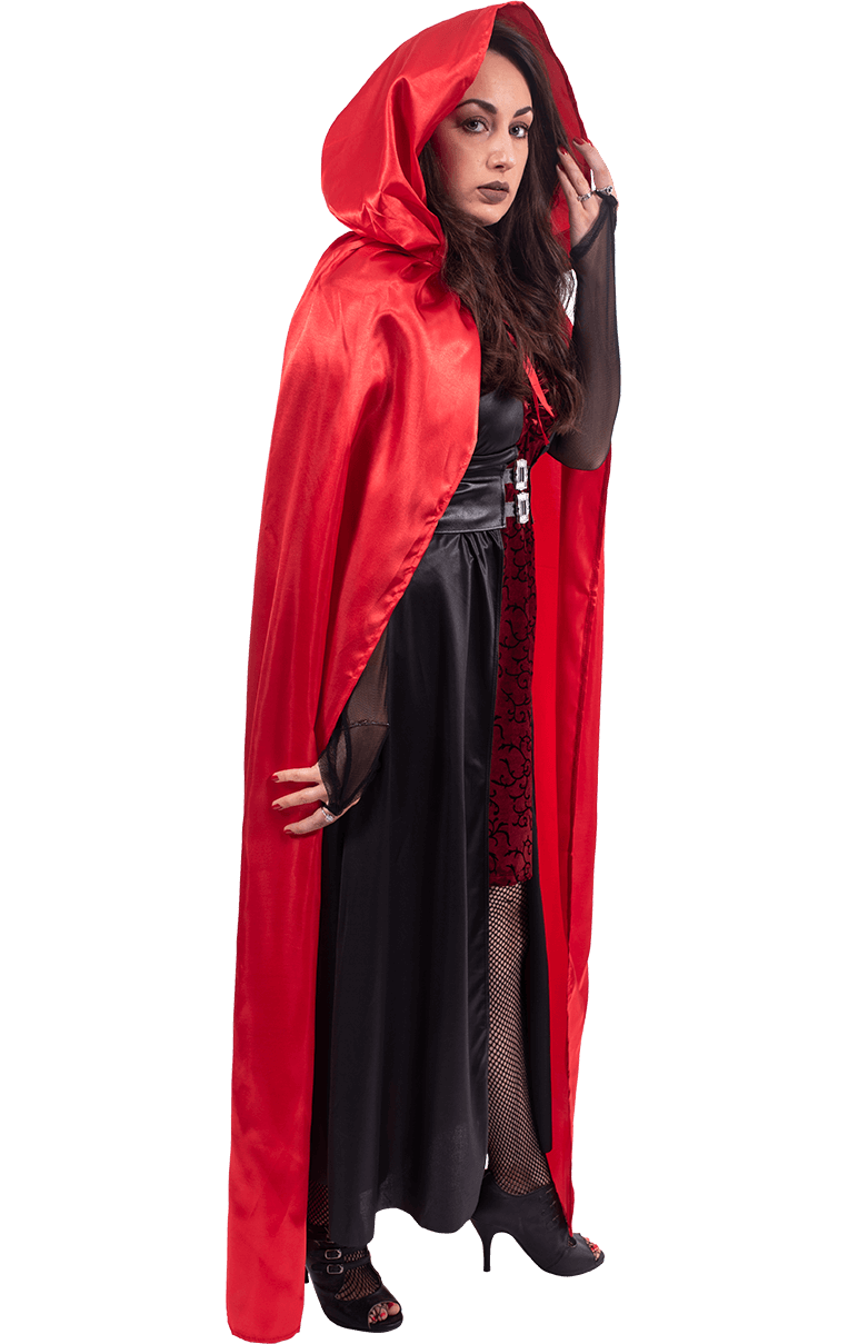 Red cape on floor png. Hooded jokers masquerade