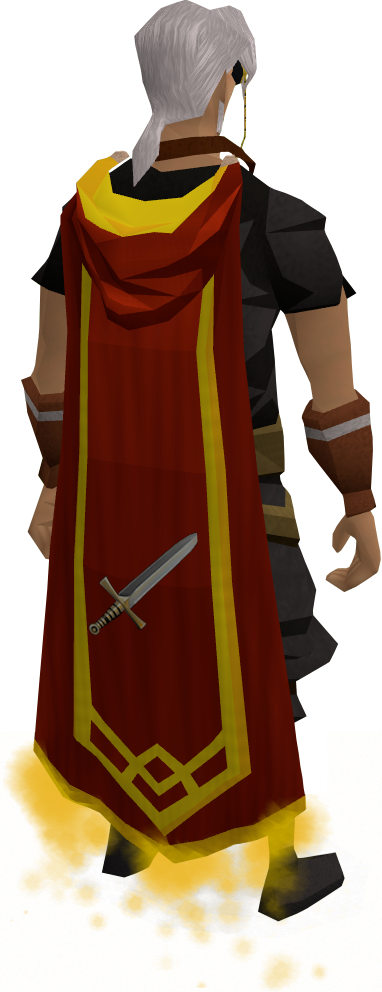 Red cape on floor png. Master of accomplishment runescape