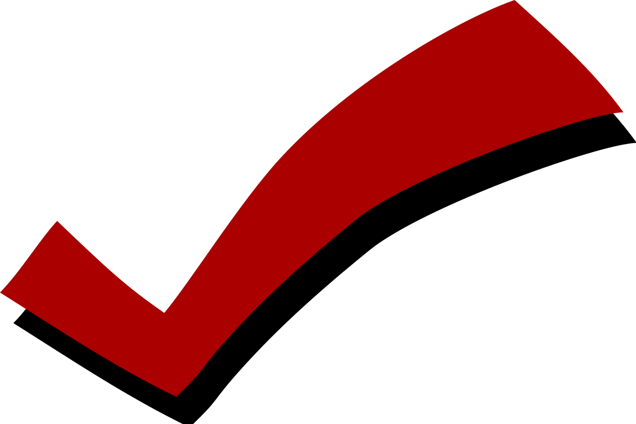 red checkbox png