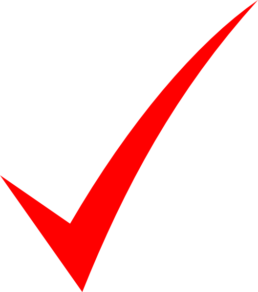 Red checkmark png. Check mark clip art
