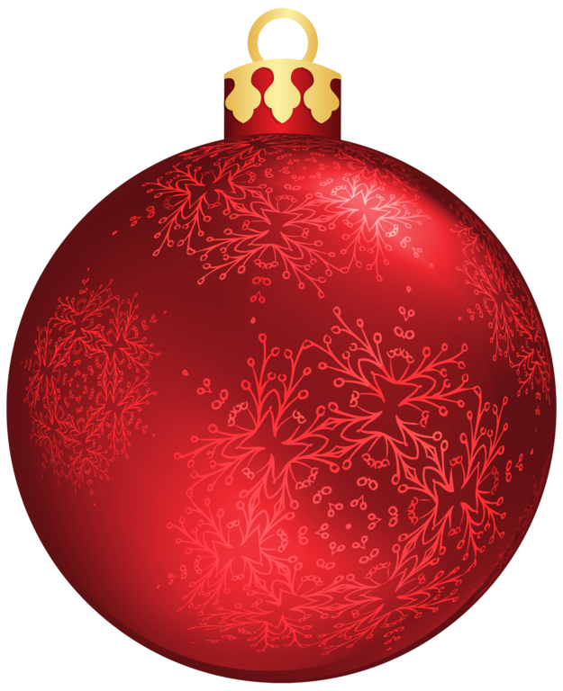 Red christmas ball png. Clipar