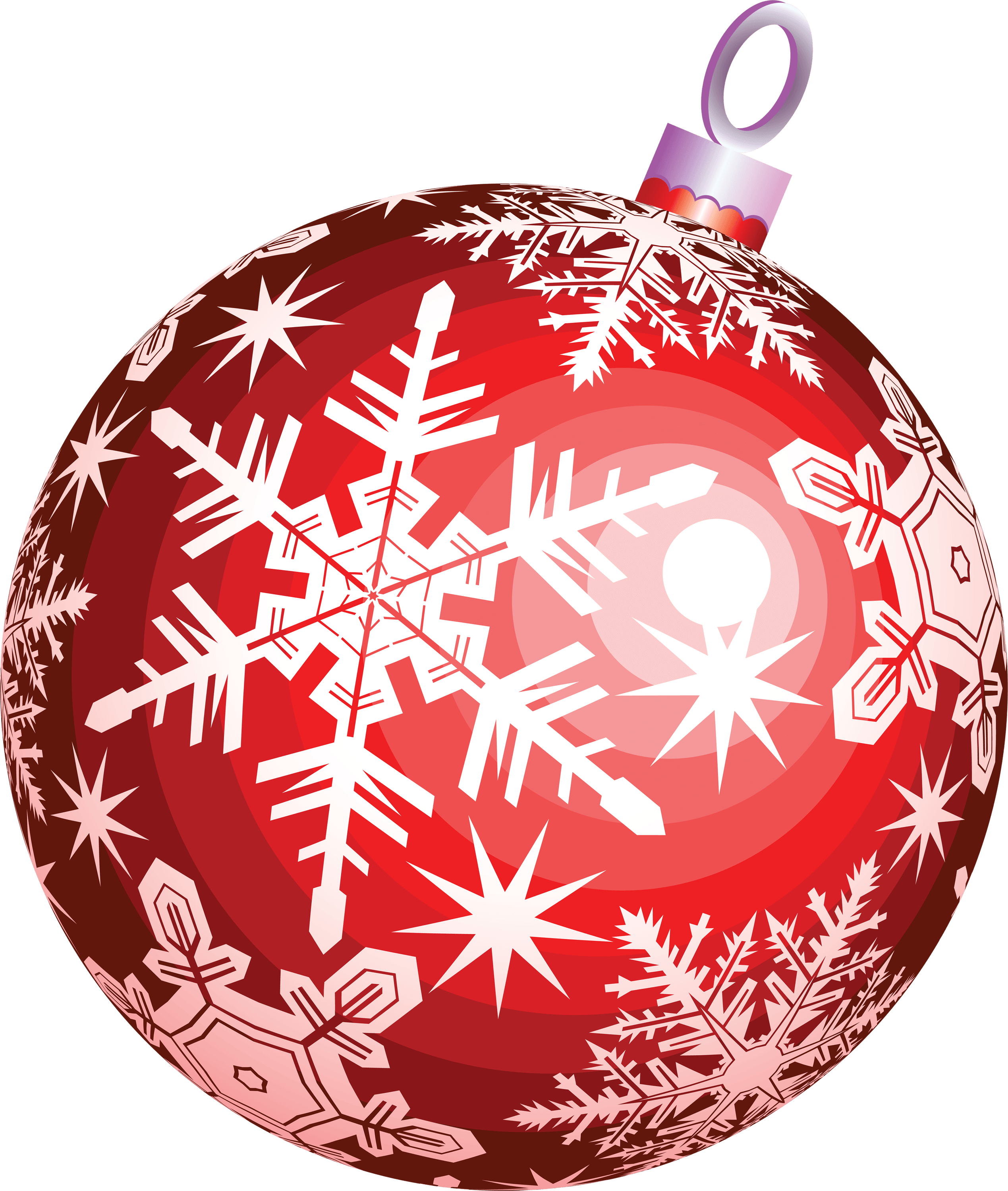 Red christmas ball png. Transparent stickpng