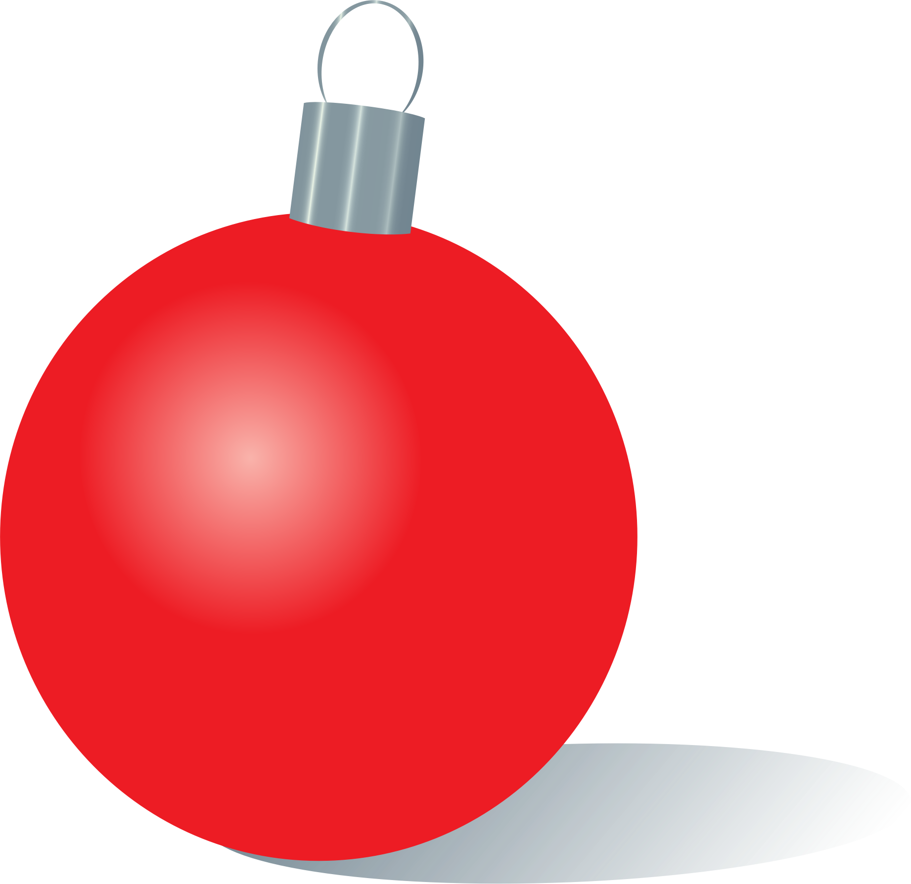 Red christmas ornament png. Clipart big image
