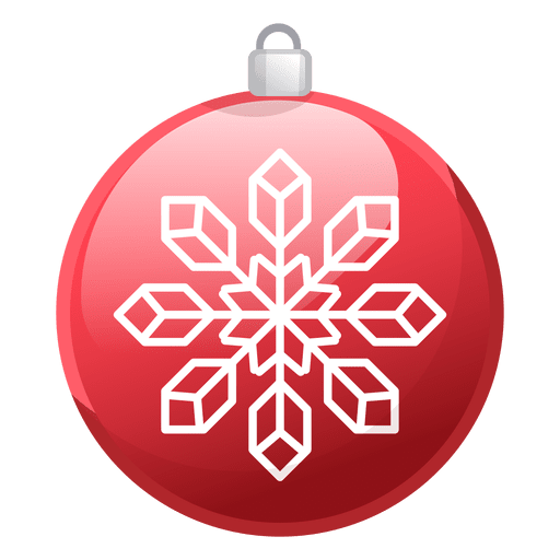 Red christmas ornament png. Shiny icon transparent svg