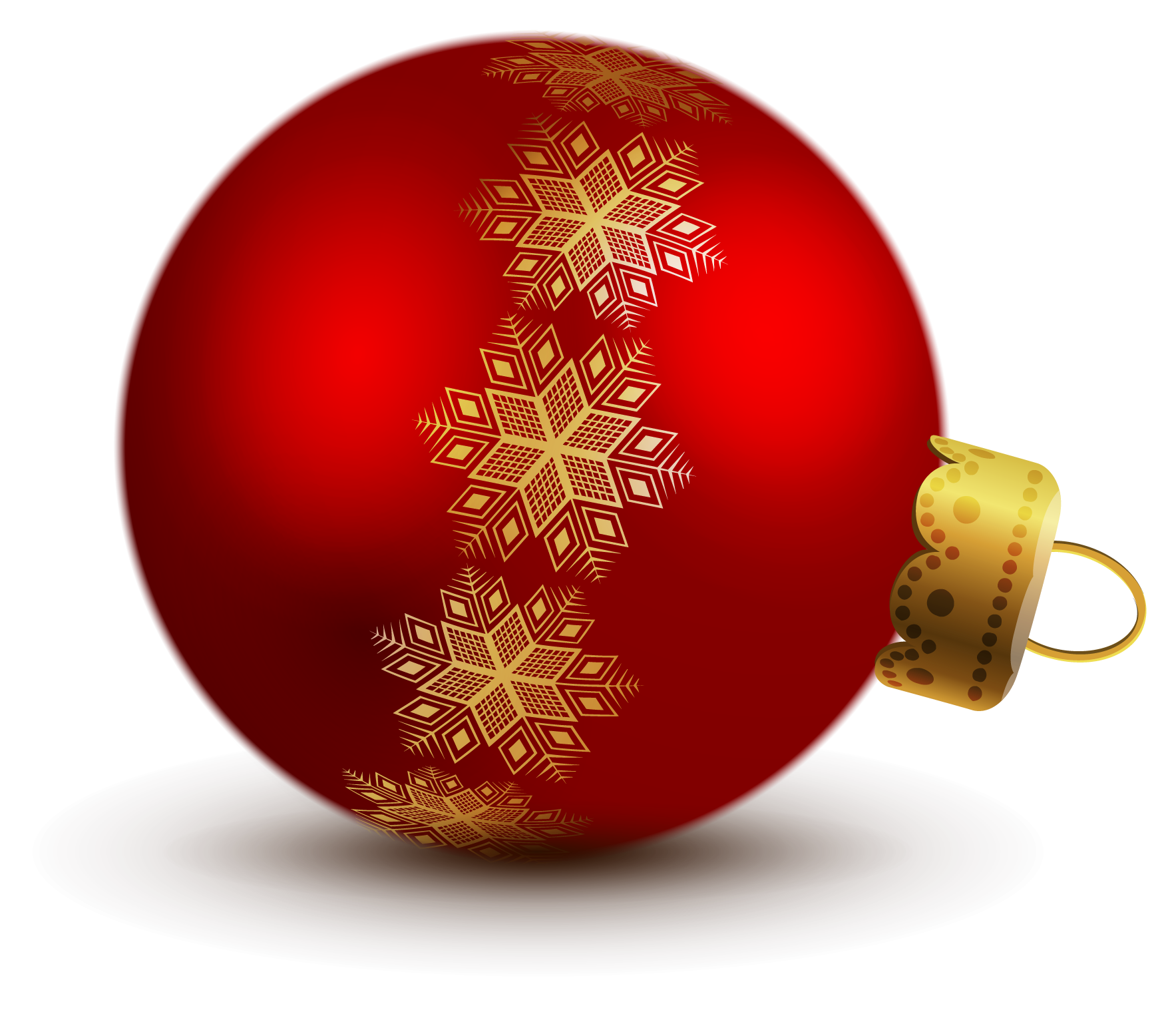 Red christmas ornaments png. Transparent ball clipart holiday