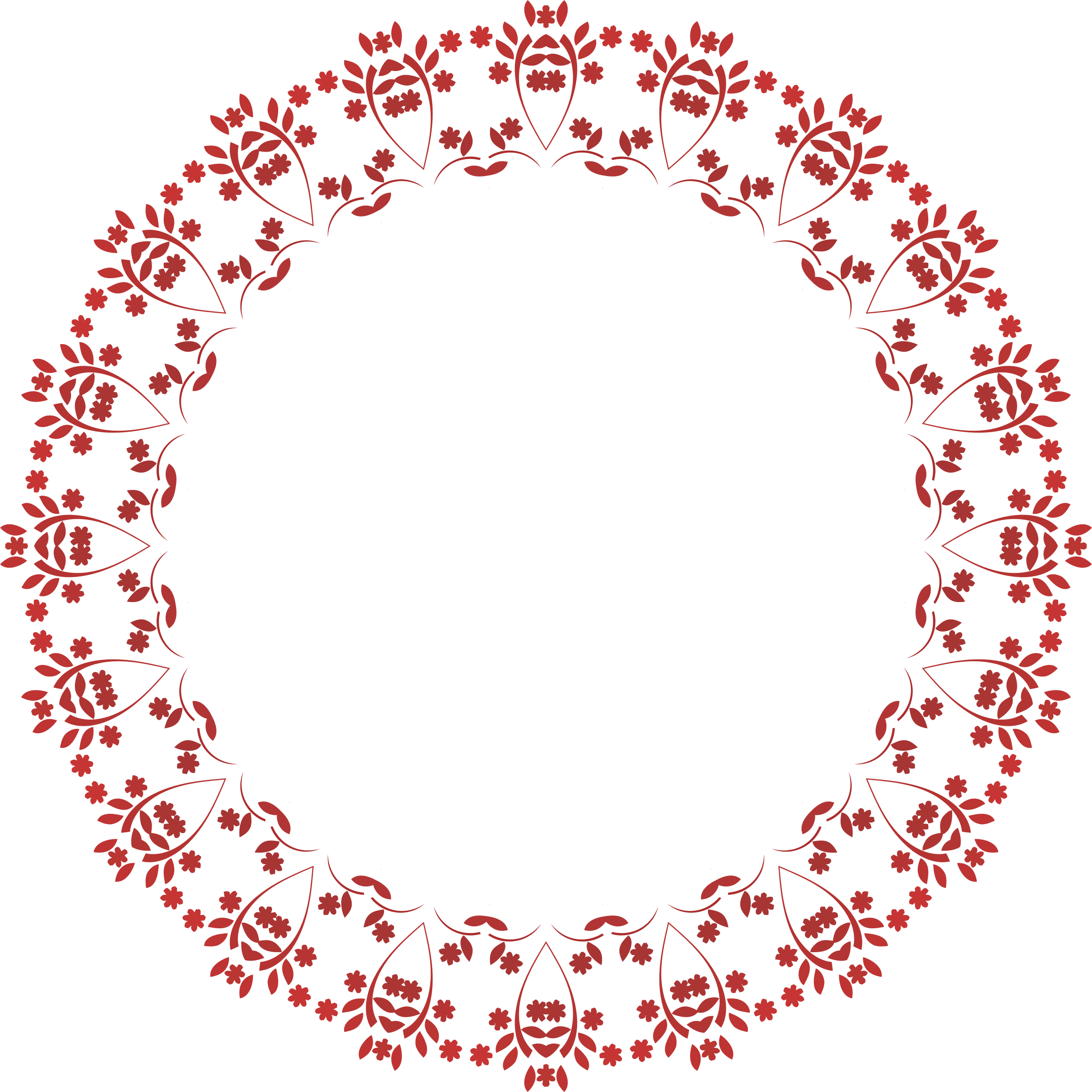 Red circle frame png. Floral icons free and
