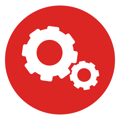 Red circle icon png. Cogwheels transparent svg vector