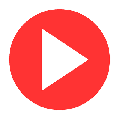 Red circle png transparent. Play button stickpng
