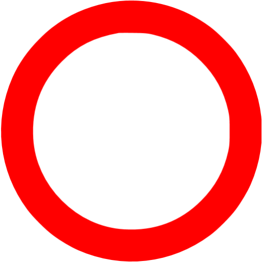 Thick outline octagon png. Red circle icon free