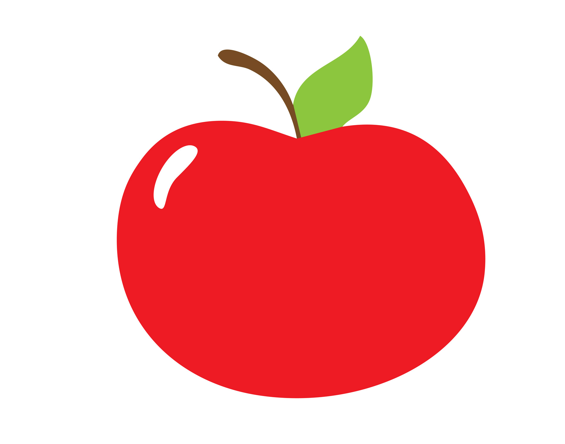 Apple clipart. Red free stock photo