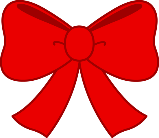 Bow clipart. Cute red free clip