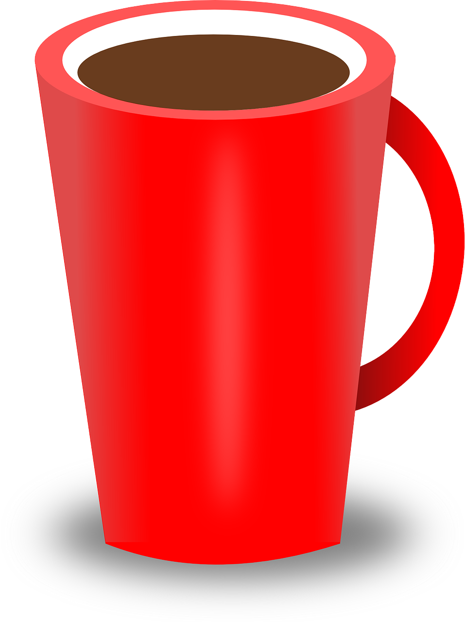 Red clipart coffee. Cup drink hot tea