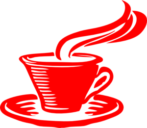 Coffee cup clipart red. Star clip art at