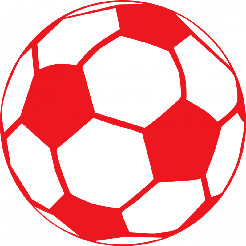 Red clipart football. Soccer ball
